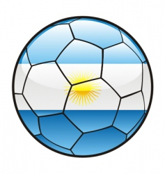 Flag of argentina on soccer ball vector