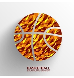 Polygonal basketball background concept tam vector