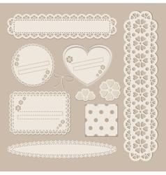 Scrapbook set with different elements - scrapbook vector image