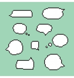 Pixel art speech bubbles isolated vector