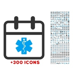 Health care date icon vector