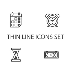 Time clock icons set vector