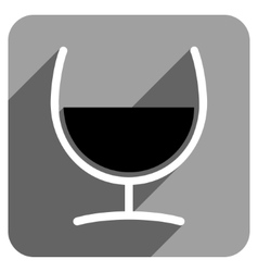 Remedy glass flat square icon with long shadow vector