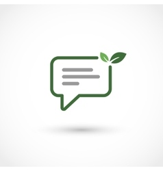 Green chat vector