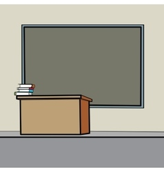 School desk blackboard vector