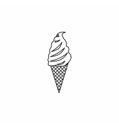 Ice cream icon outline style vector