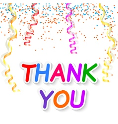 Thank you isolated on white background vector