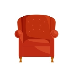 Brown armchair icon cartoon style vector