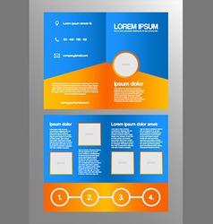 Bifold business brochure template vector image vector image
