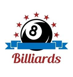 Billiard sport symbol vector