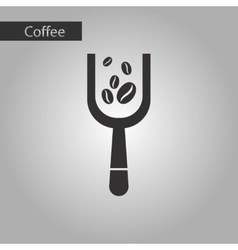 Black and white style scoop coffee vector
