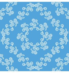 Blue and white seamless decorative pattern vector