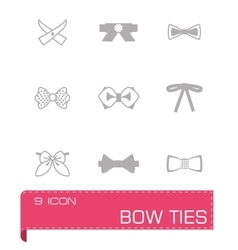 Bow ties icon set vector image vector image