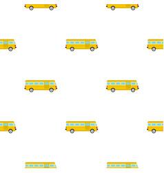 Bus pattern flat vector