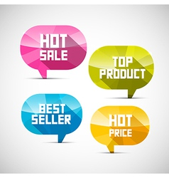 Colorful Labels Best Seller Top Product Hot Sale vector image vector image