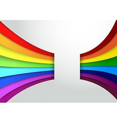 Colorful rainbow wave banner vector image