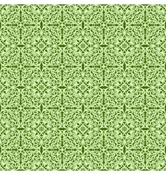 Decorative green pattern vector image