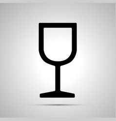 fragile glass simple black icon vector image vector image