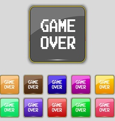 Game over concept icon sign set with eleven vector