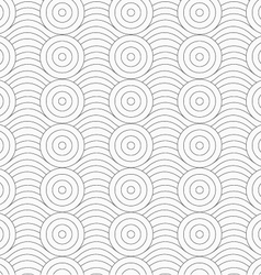 Gray circles merging with continues lines vector