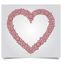 Heart red circle vector