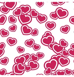 Hearts seamless pattern pink vector