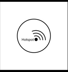 hotspot solid icon mobile sign and wifi zone vector image vector image