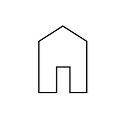 house linear icon vector image vector image