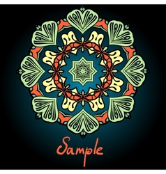 Mandala flyer design tribal vintage element vector