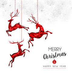 Red deer decoration for Christmas and New Year vector image vector image