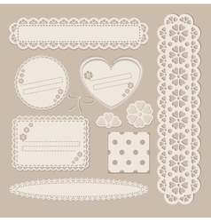 Scrapbook set with different elements - scrapbook vector image vector image