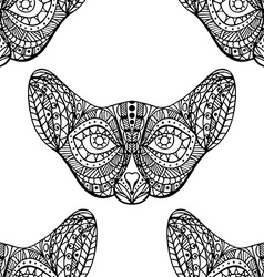 Seamless pattern with cat faces vector image vector image