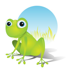 simple cute frog vector image