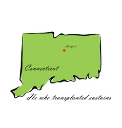 State of connecticut vector