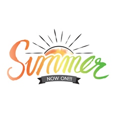 Summer Hand Lettering vector image vector image