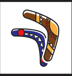 Two traditional boomerangs vector
