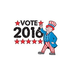 Vote 2016 uncle sam hand pointing up retro vector