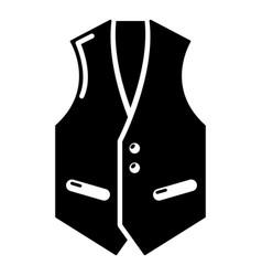Waistcoat icon simple black style vector