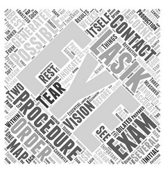 What is the initial lasik eye exam like word cloud vector