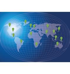 World map social network concept vector