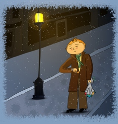013 waiting boy vector image