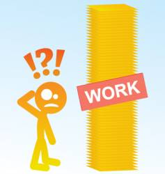 work load vector image