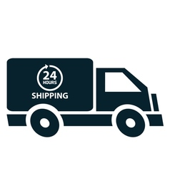 24 hours shipping vector
