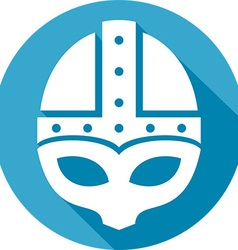 Medieval helmet icon vector