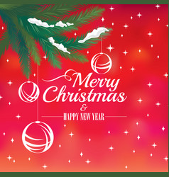 2018 christmas and happy new year greeting card vector