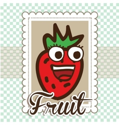 Fruit cute design vector