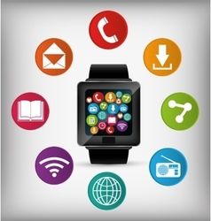Wearable technology equipment vector