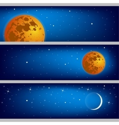 Space with the moon background vector