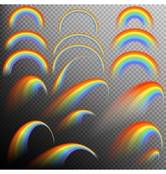 Rainbows in different shape realistic set eps 10 vector