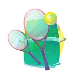 for tennis with wooden racks and ball vector image